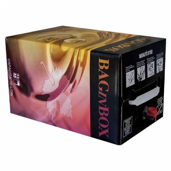 Bag in box 10 litri Contenitore vino sfuso da dieci litri con rubinetto.