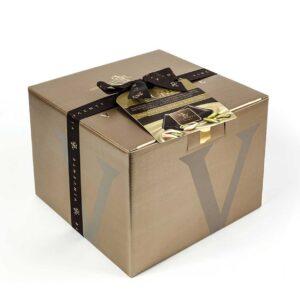 LE CHIC – ricoperto cioccolato fondente e pistacchio farcito con crema al pistacchio