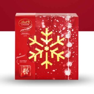 Scatola Natale Lindor Led Latte