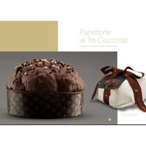 Panettone ai tre cioccolati